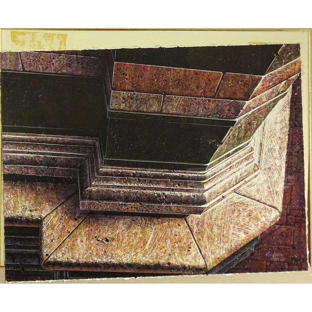 George Kozman, American (b. 1960) Acrylic on rag paper.