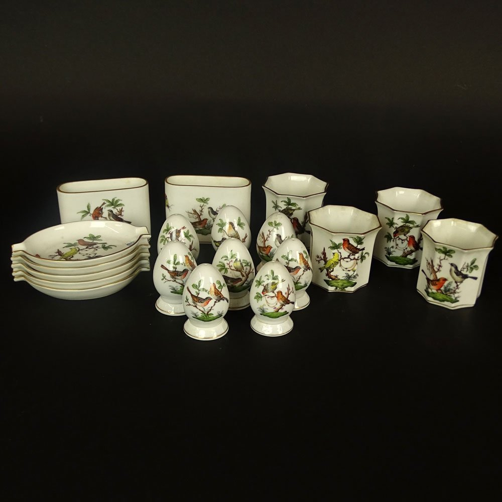 Collection of Herend Rothschild Porcelain Tabletop