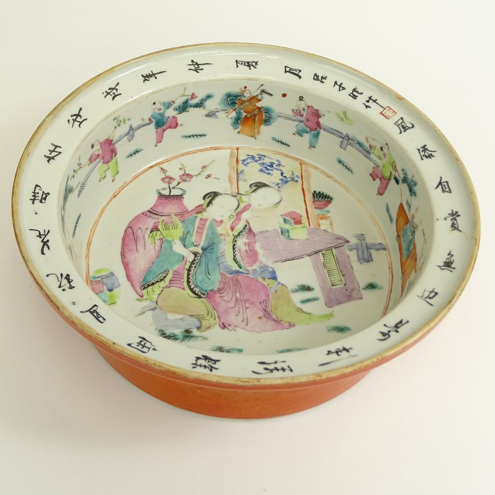 Early 20th Century Chinese Hand Painted Porcelain Bowl