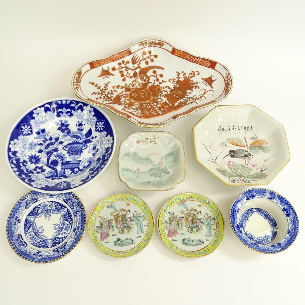 Lot of Eight (8) Pieces Chinese Export and English
