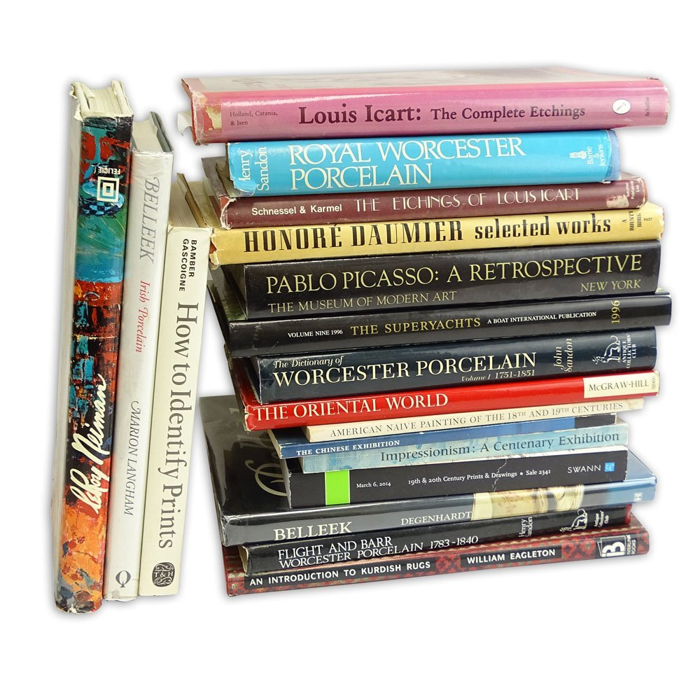 Box Lot of 18 Collector's Reference Books and catalogs.