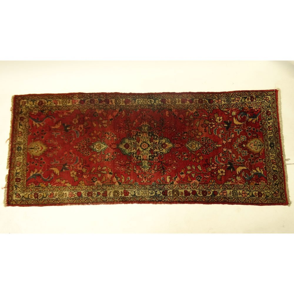 Semi Antique Persian Runner. Unsigned. Faded and in