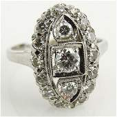 AIG Certified Art Deco style 96 Carat Diamond and 14