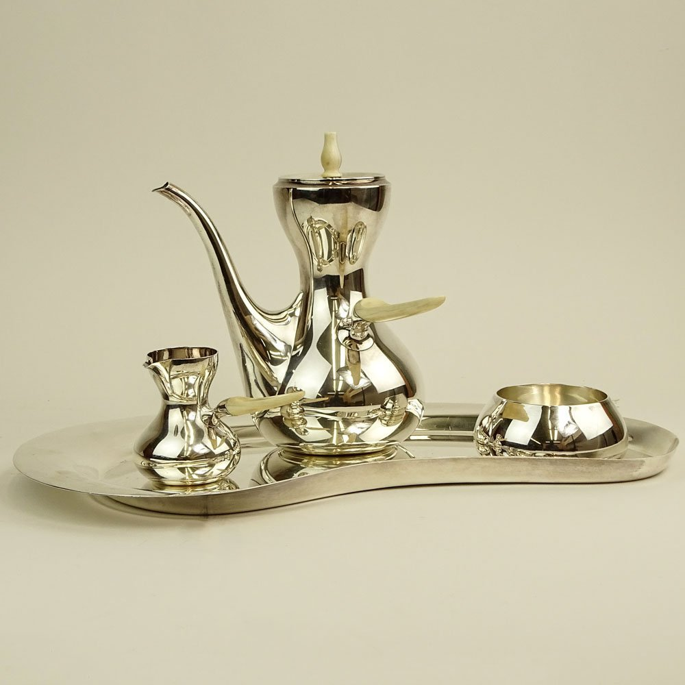 Mid Century Danish Modern Corh Sterling Silver Four (4) - 2