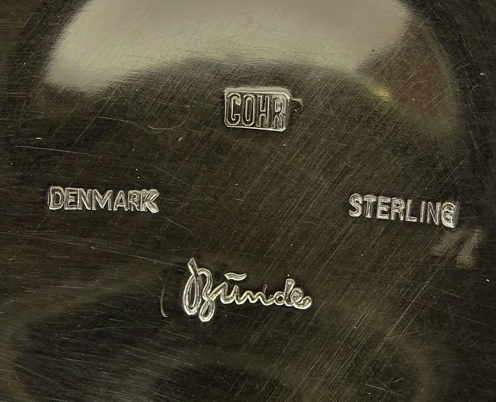 Mid Century Danish Modern Corh Sterling Silver Four (4) - 5