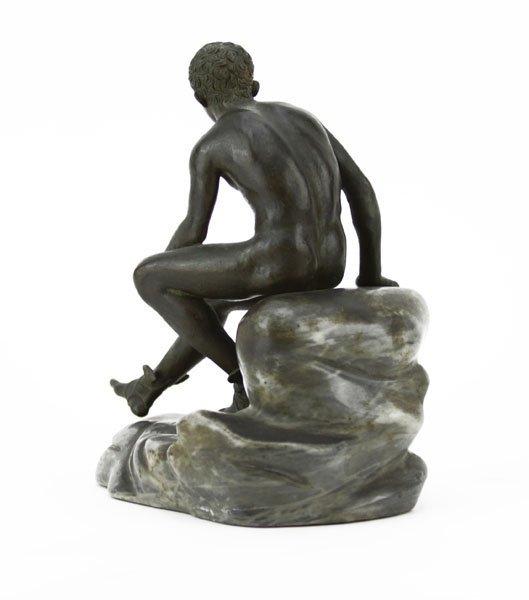 "Vintage Bronze Sculpture on Marble Base ""Mercury"". - 2"