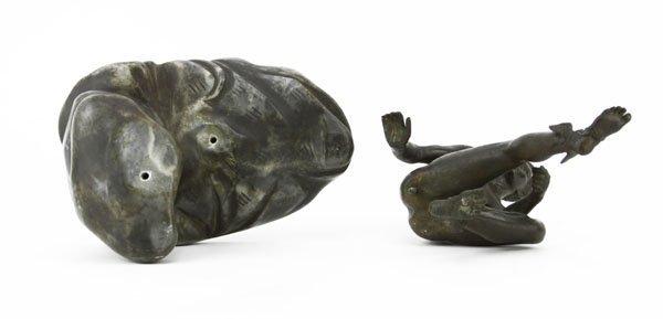 "Vintage Bronze Sculpture on Marble Base ""Mercury"". - 4"