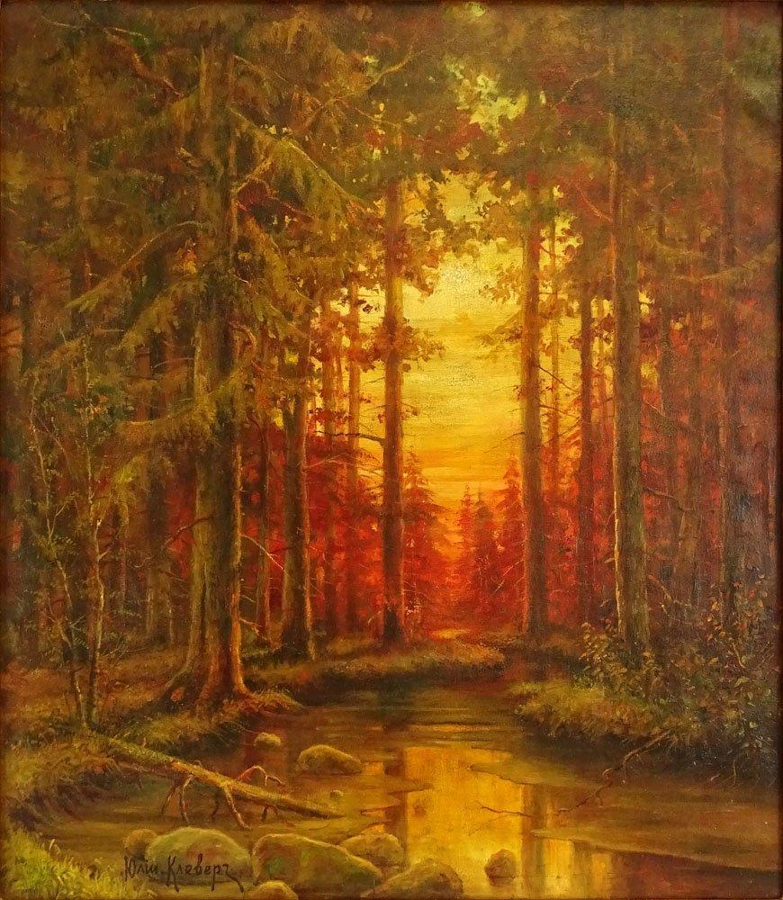 Yuliy Yulevich (Julius) Klever, Russian (1850-1924) oil