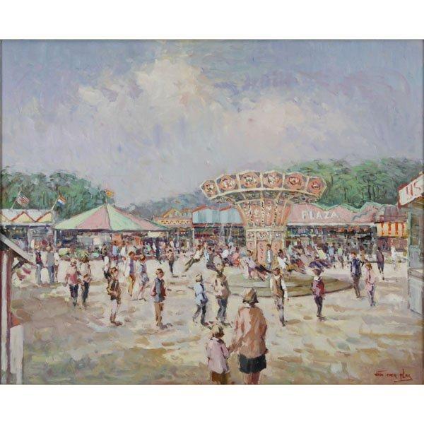 "Niek Van Der Plas, Dutch (b. 1954), Oil on canvas ""At"