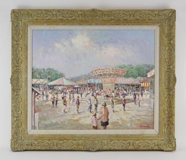 "Niek Van Der Plas, Dutch (b. 1954), Oil on canvas ""At - 2"