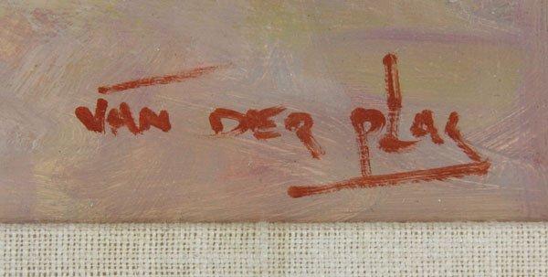 "Niek Van Der Plas, Dutch (b. 1954), Oil on canvas ""At - 3"