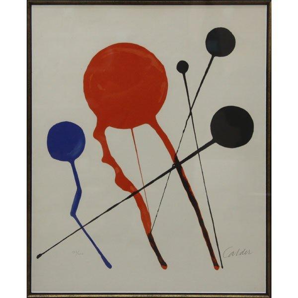 Alexander Calder, American  (1898-1976) Lithograph on
