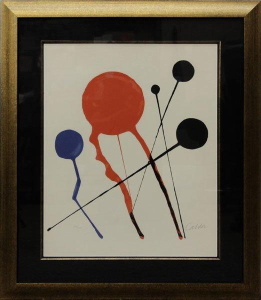 Alexander Calder, American  (1898-1976) Lithograph on - 2