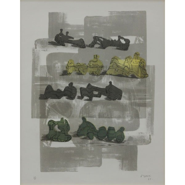 Henry Moore, British (1898-1986) 1963 Lithograph, Eight