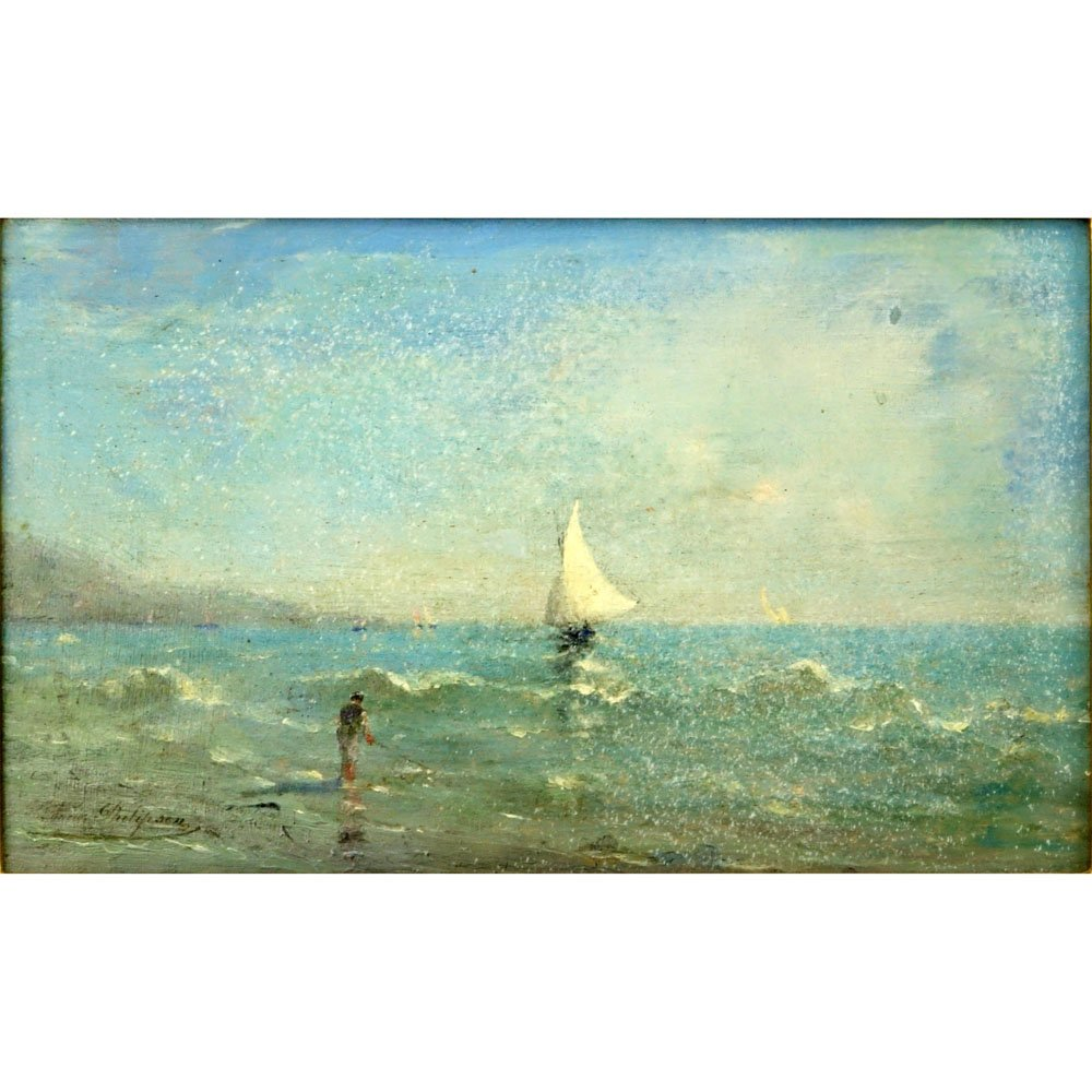 "19/20th Century Dutch School Oil on Panel ""Sailboats"