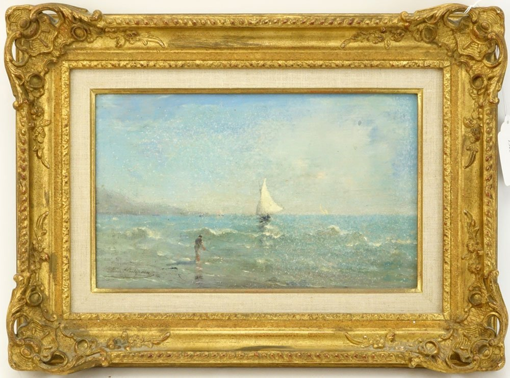 "19/20th Century Dutch School Oil on Panel ""Sailboats - 2"