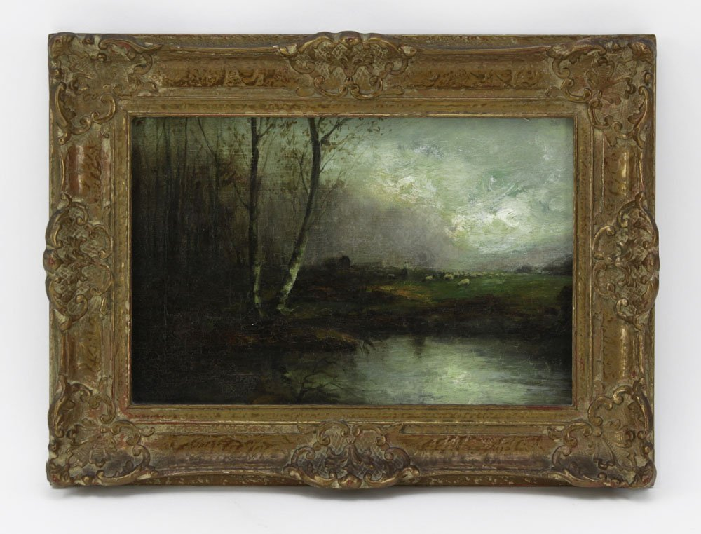 "19th Century Barbizon School ""Pastoral Landscape"". - 2"