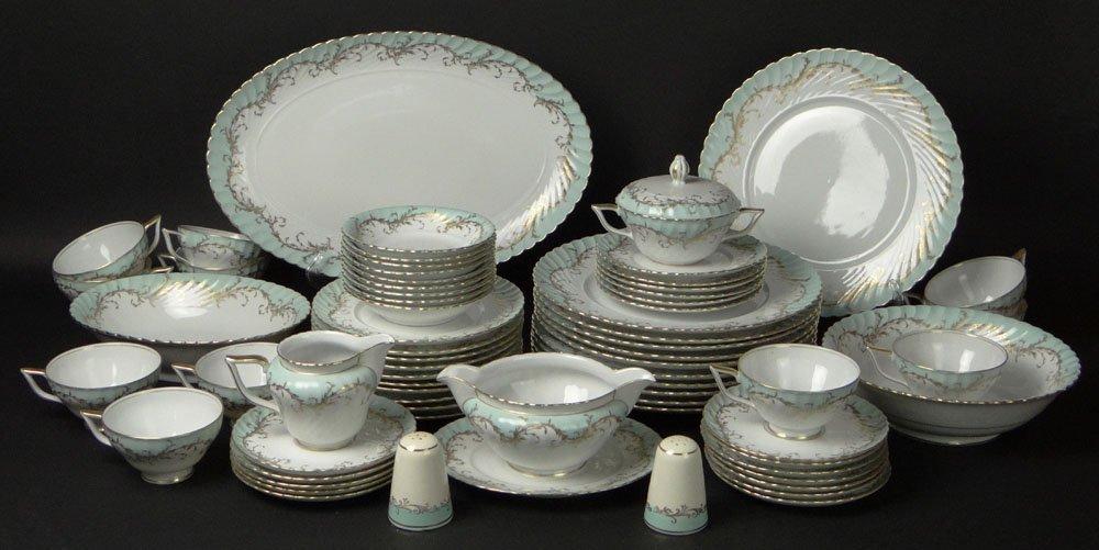Sixty Five (65) Piece Royal Tettau Porcelain Dinner