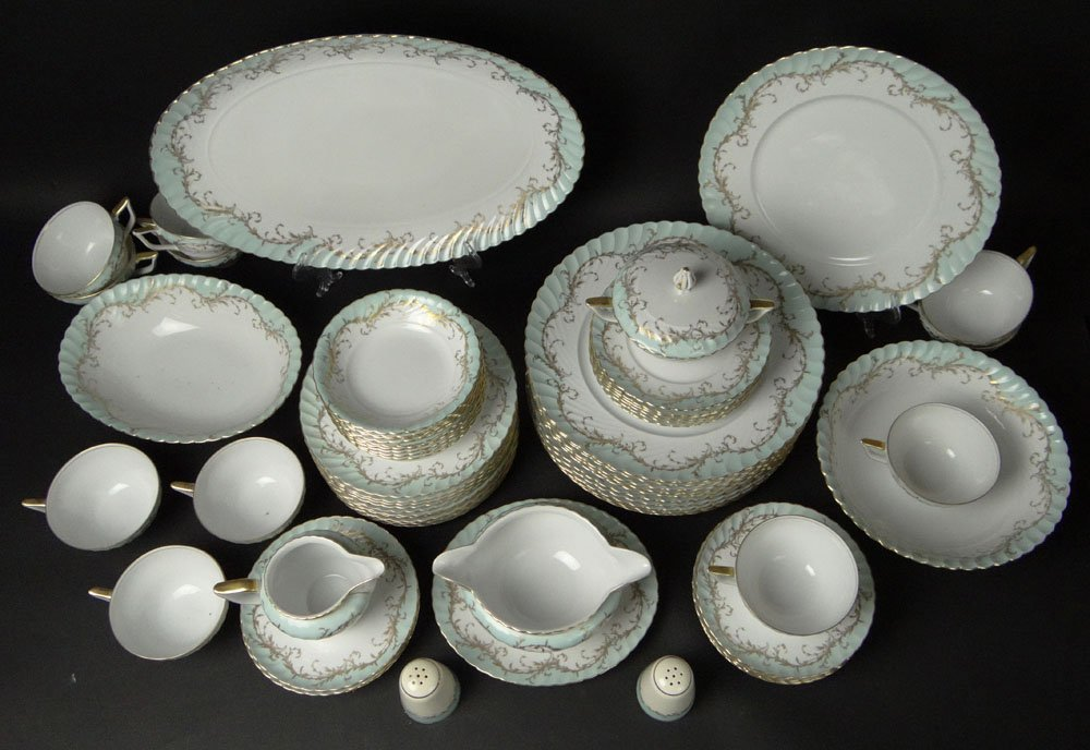 Sixty Five (65) Piece Royal Tettau Porcelain Dinner - 2
