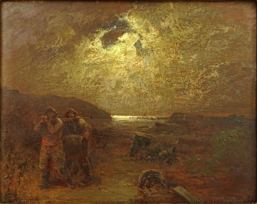 Louis Douzette, German (1834-1924) Oil on Panel,
