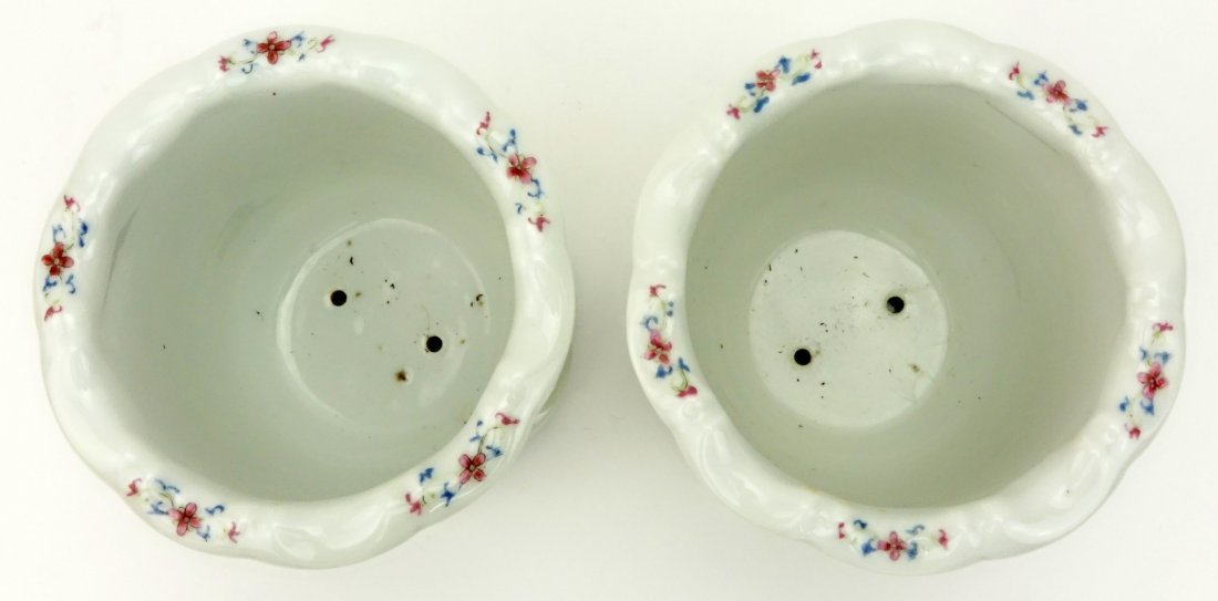 Pair of Mid Century Chinese Hand Painted Porcelain - 3
