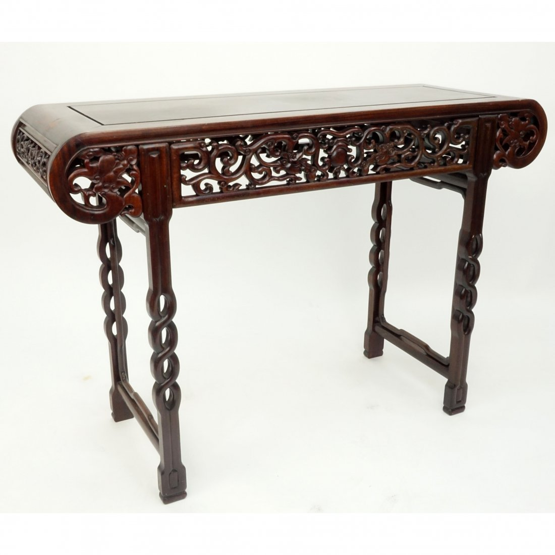"Vintage Chinese Carved Hardwood ""Shanghi"" Altar Table."