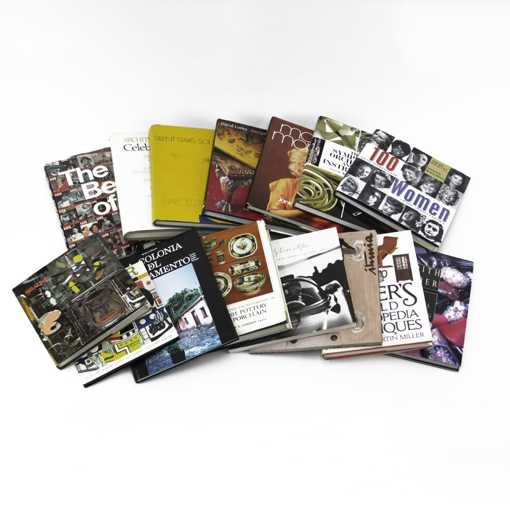 Box Lot of 15 Collector's Reference Coffee Table Books.