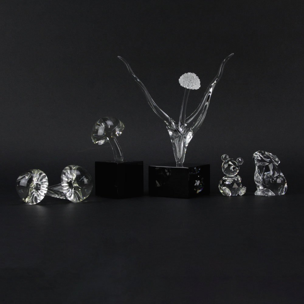 Collection of Four (4) Crystal Sculptures. Includes: