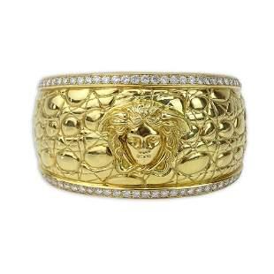 Vintage Gianni Versace Heavy 18 Karat Yellow Gold and