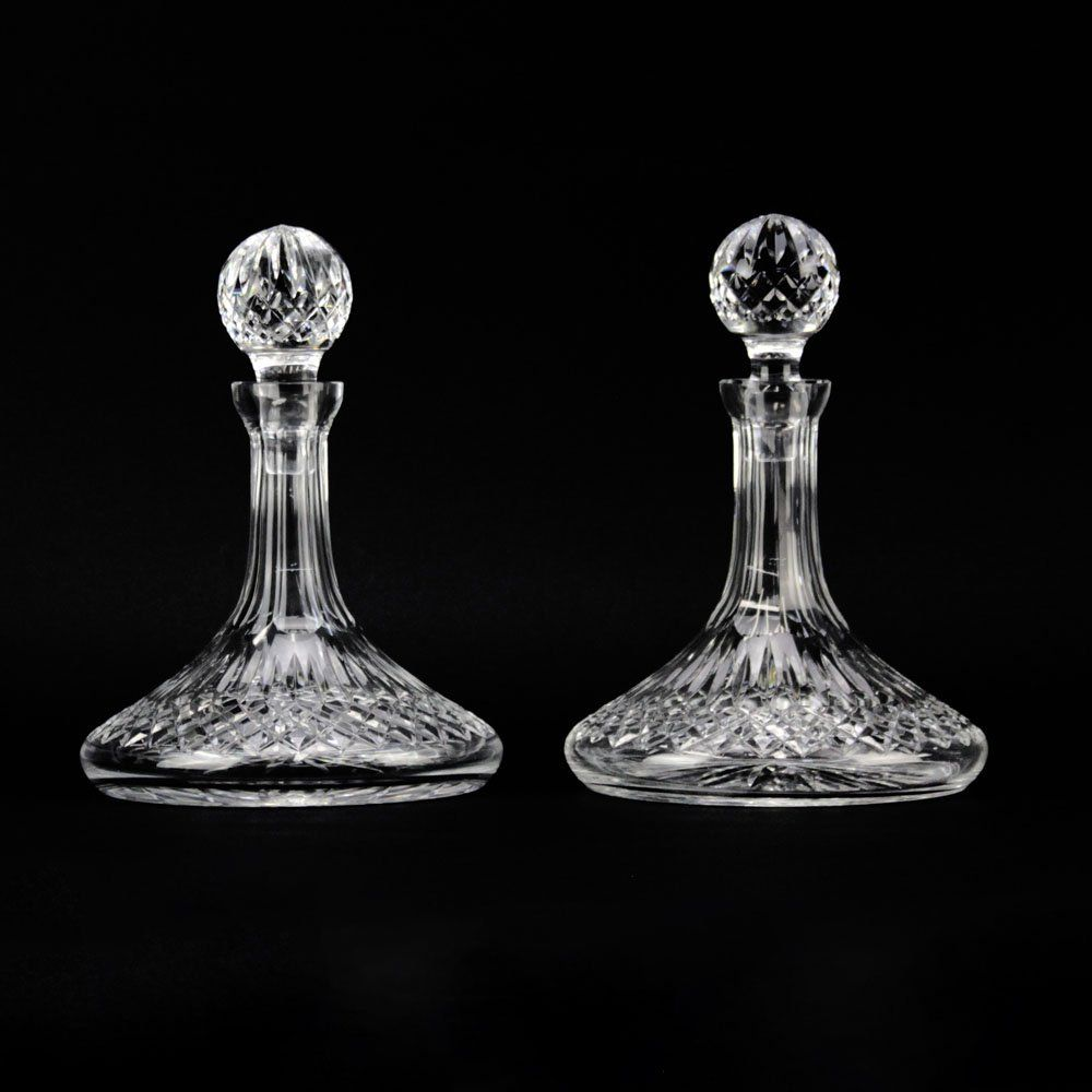 Pair of Waterford Lismore Crystal Ships Decanter.
