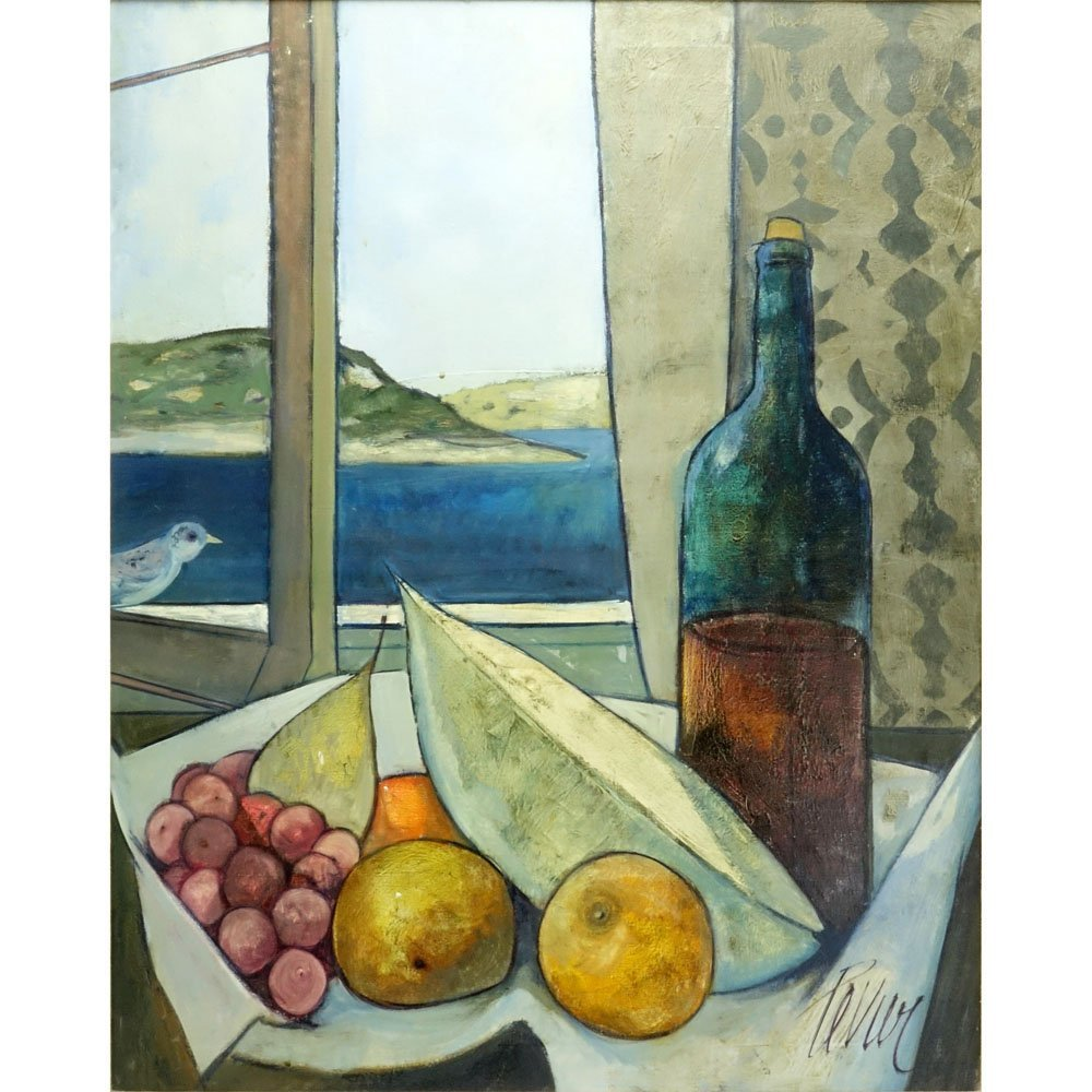 """Charles Levier, French (1920-2003) Oil on Canvas """"Le"""