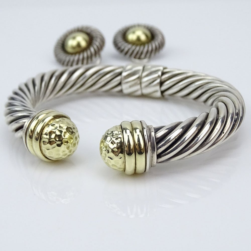 Vintage David Yurman Sterling Silver and 14 Karat - 3