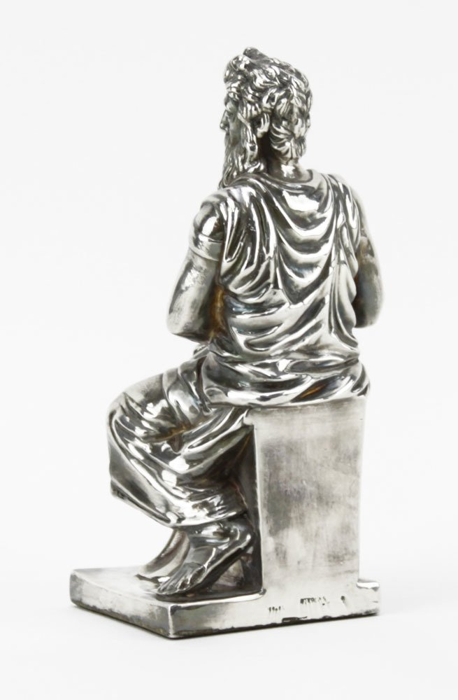 Sterling Silver Figure of Moses Sculpture. Signed - 2