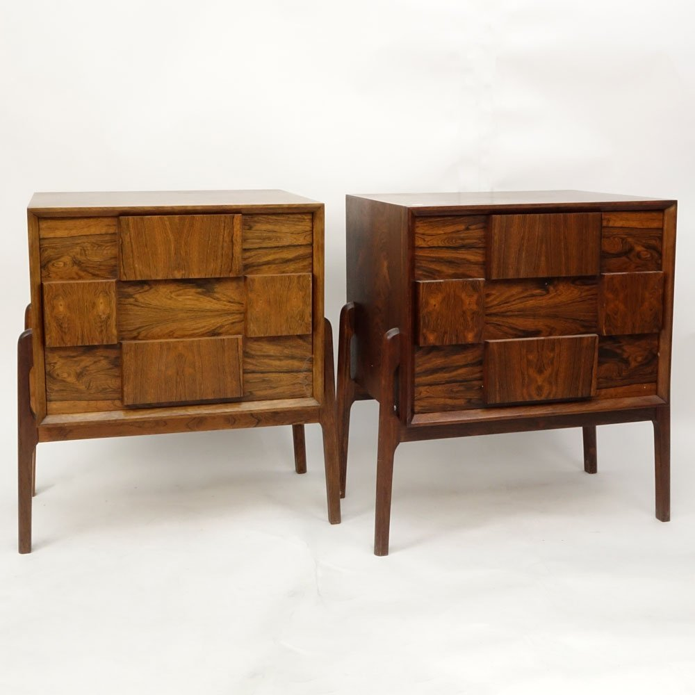 Pair Mid Century Modern Danish Rosewood End Tables. - 2
