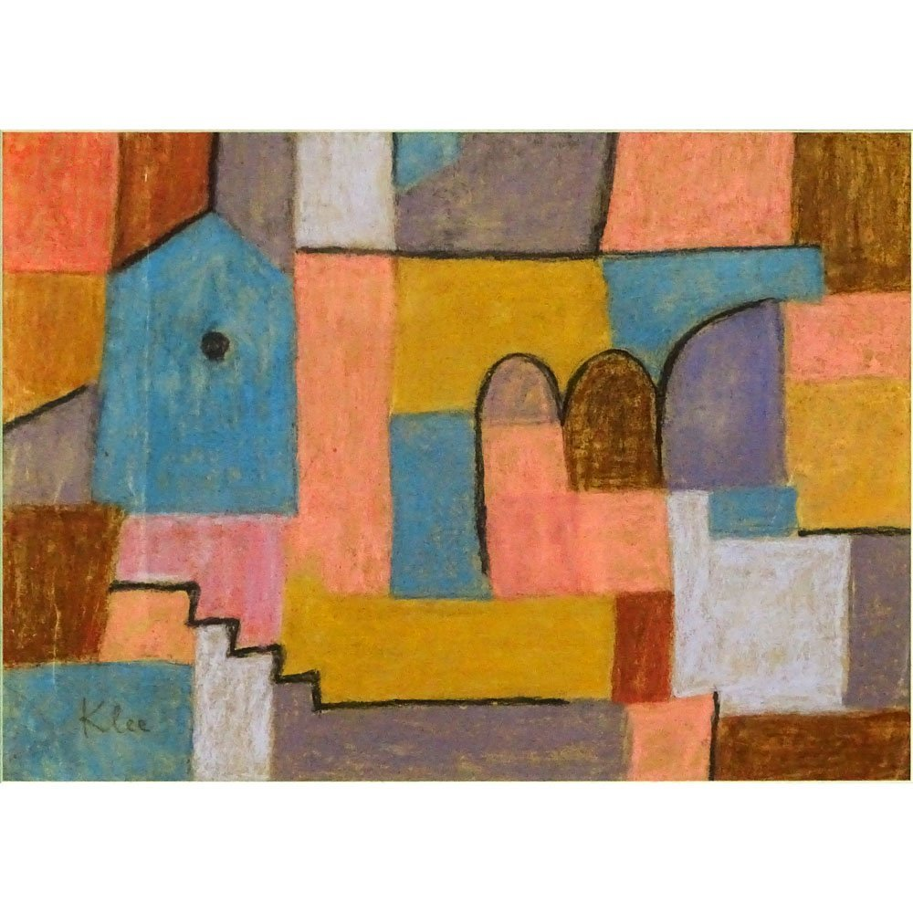 Attributed to: Paul Klee, Swiss (1879-1940) Pastel on