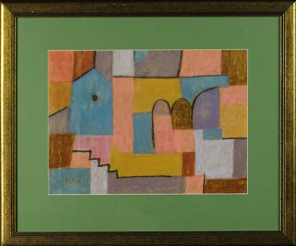 Attributed to: Paul Klee, Swiss (1879-1940) Pastel on - 2