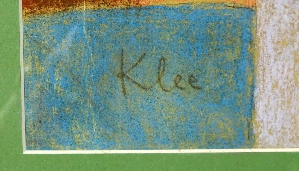 Attributed to: Paul Klee, Swiss (1879-1940) Pastel on - 3