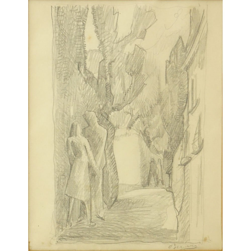 Andre Derain, French  (1880-1954) Pencil on paper