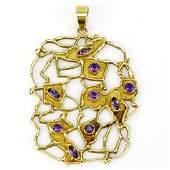 Mid Century Modern Italian 18 Karat Yellow Gold and