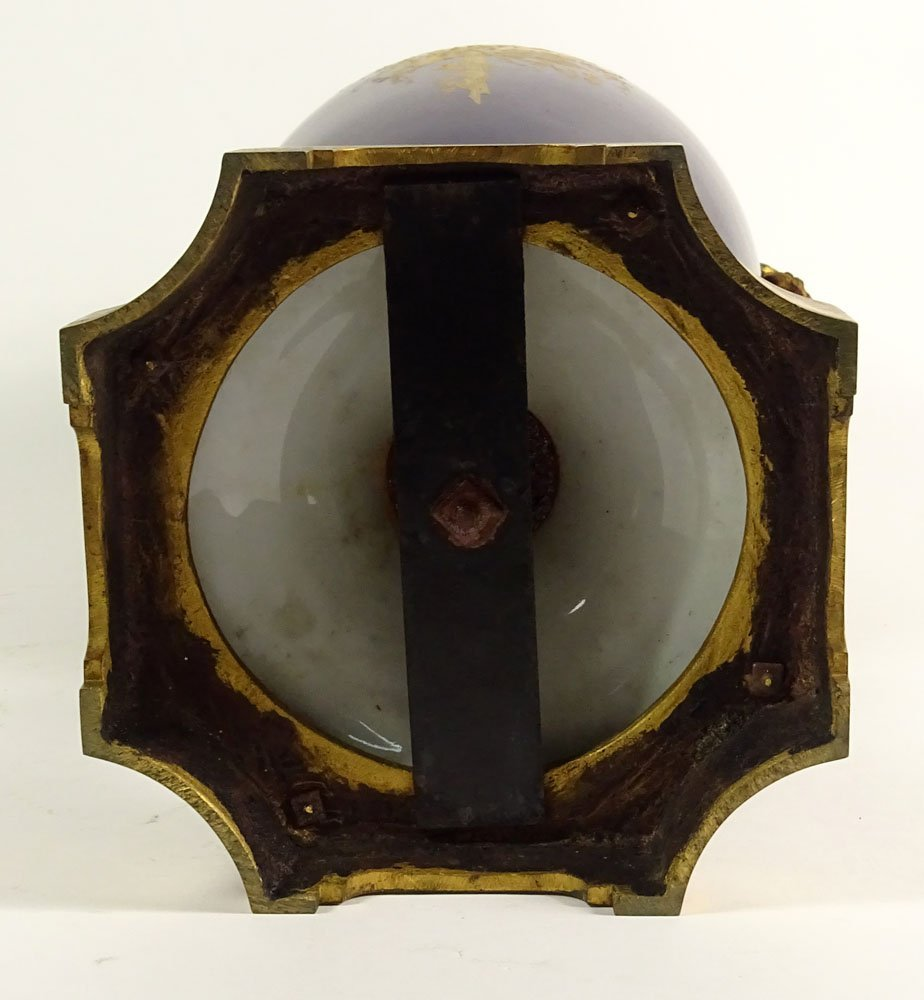 Large 19/20th Century Hand Painted Bronze Mounted - 7