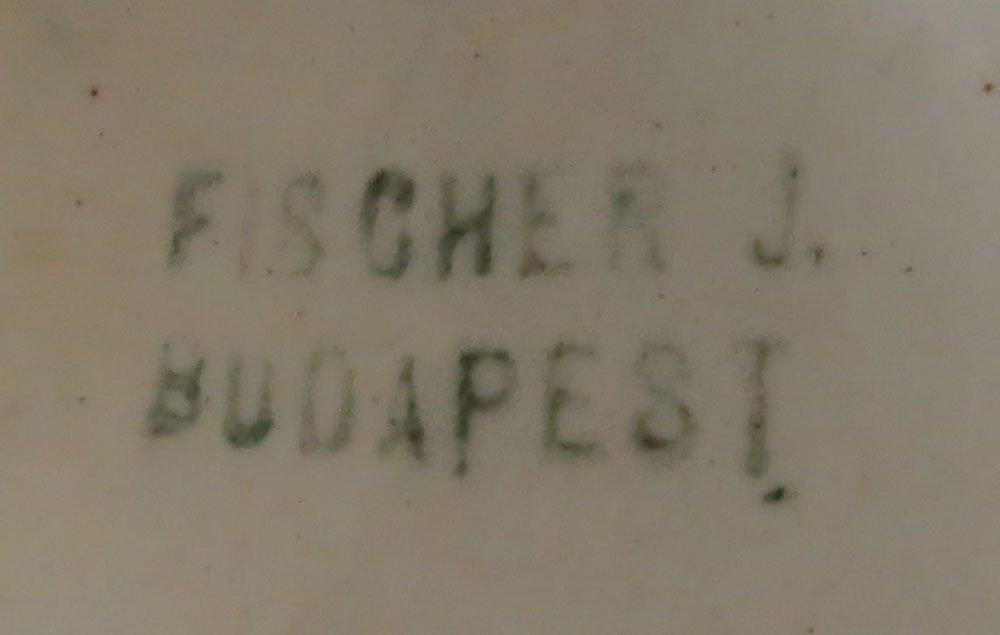 Large Fischer J. Budapest Pierced Gilt Hand Painted - 6
