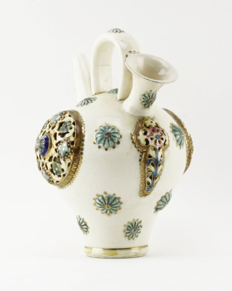 Fischer J. Budapest Gilt Hand Painted Double Spouted - 2