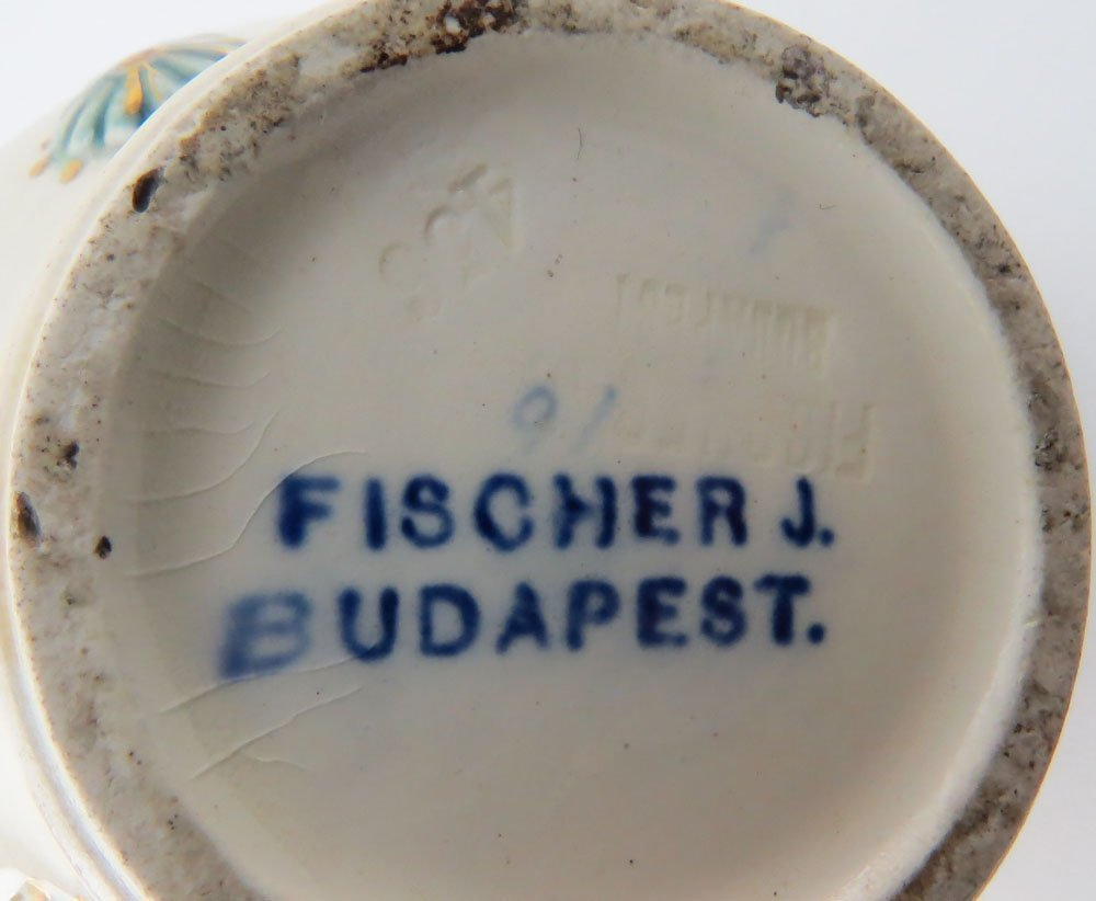 Fischer J. Budapest Gilt Hand Painted Double Spouted - 4