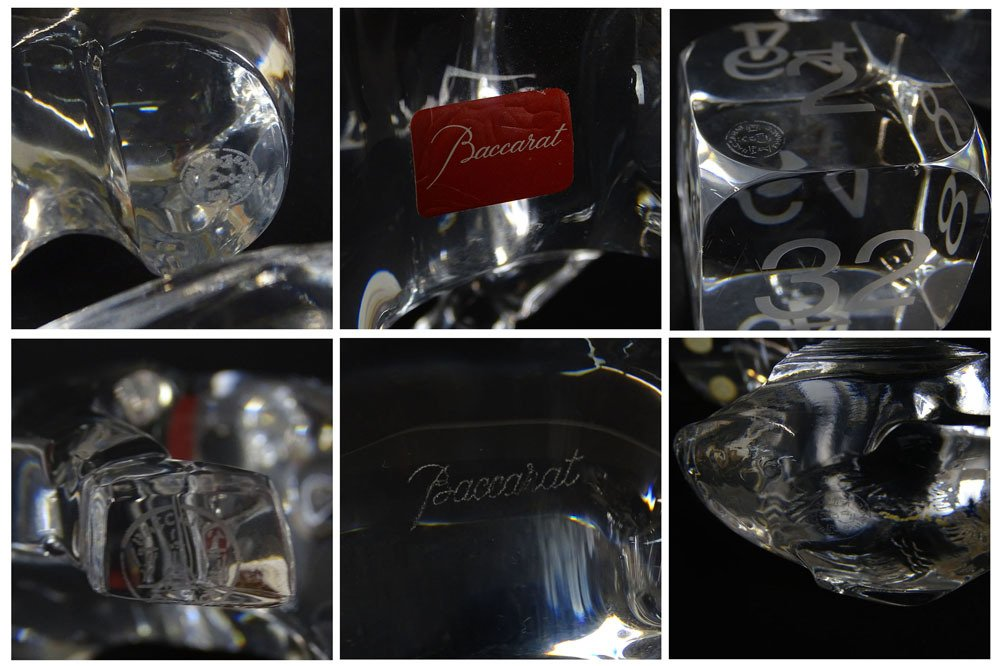 Lot of Five (4) Baccarat Crystal Figurines. Includes - 8