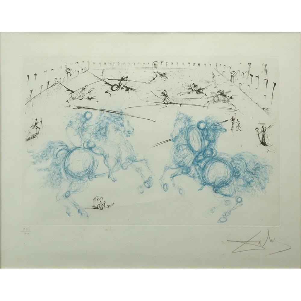 Salvador Dali, Spanish (1904-1985) Color Etching,