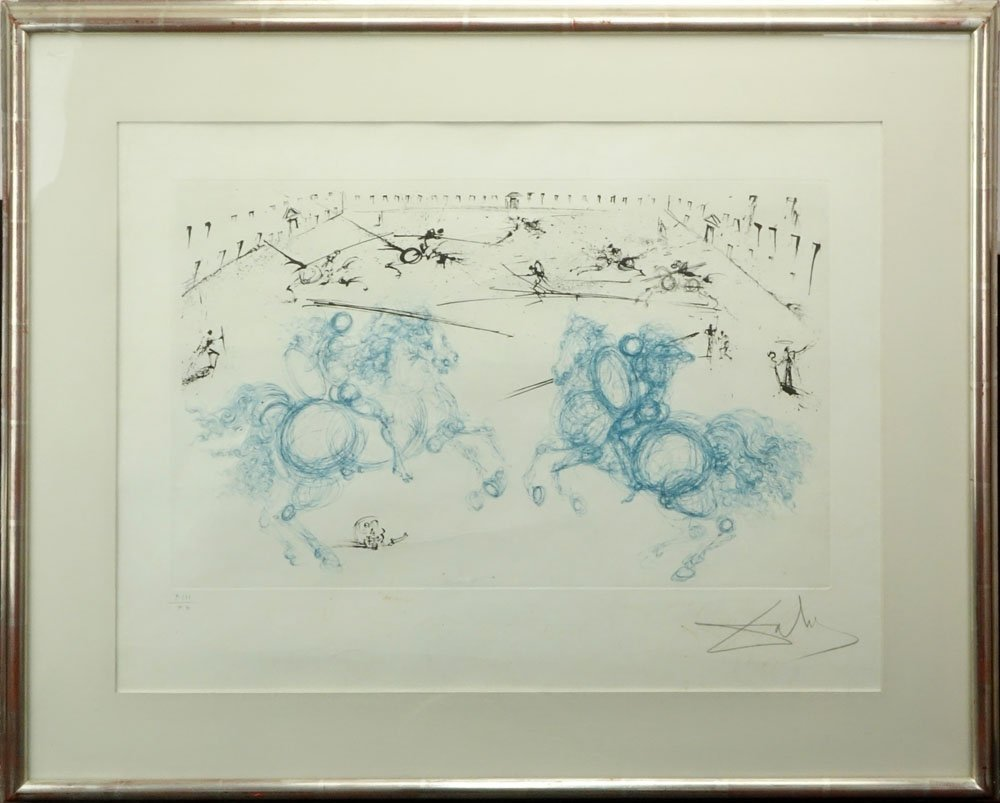 Salvador Dali, Spanish (1904-1985) Color Etching, - 2