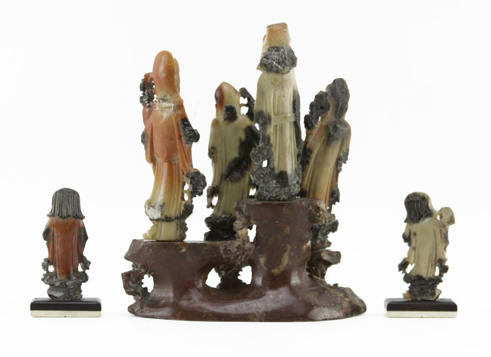 Grouping of Three (3) Chinese Carved Soapstone - 2