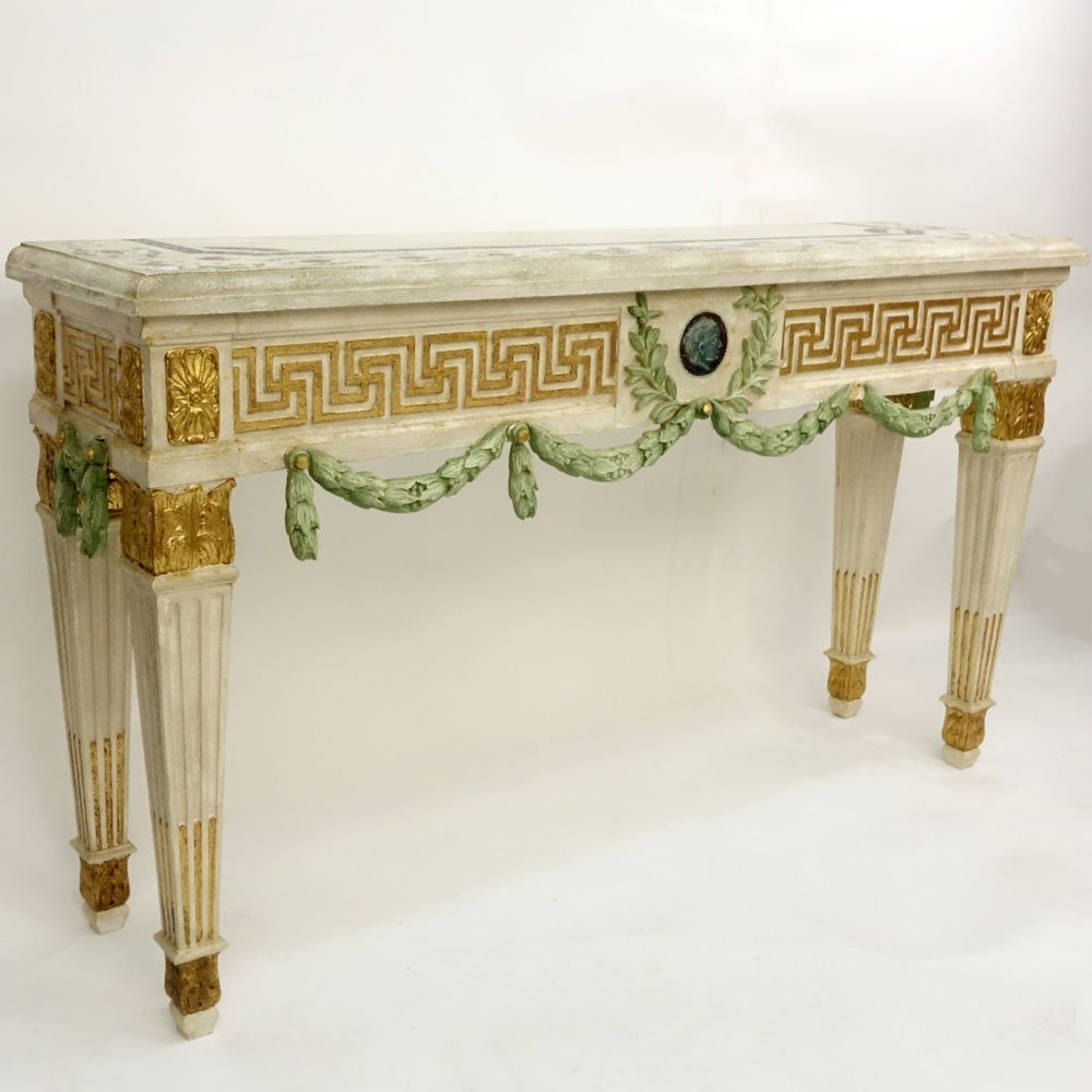 20th Century Italian Neoclassical Style Parcel Gilt