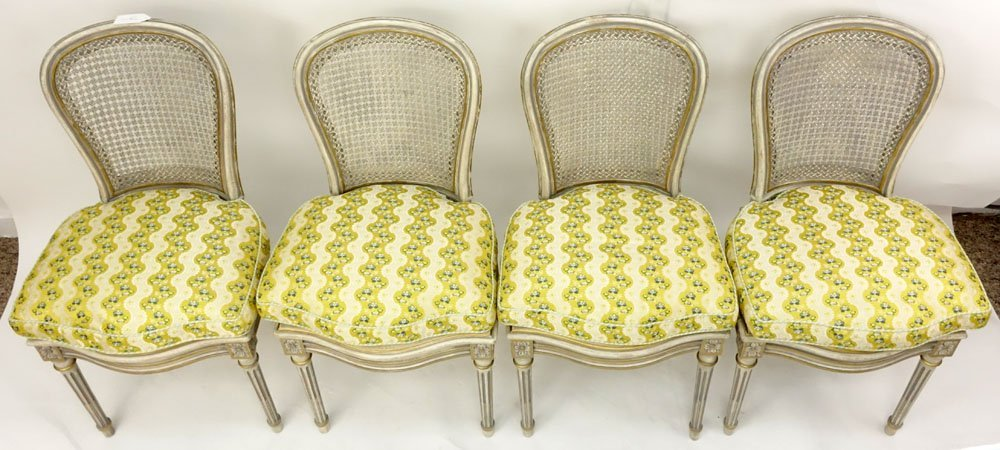 Set of Four (4) Italian Louis XVI Style Painted Side - 2