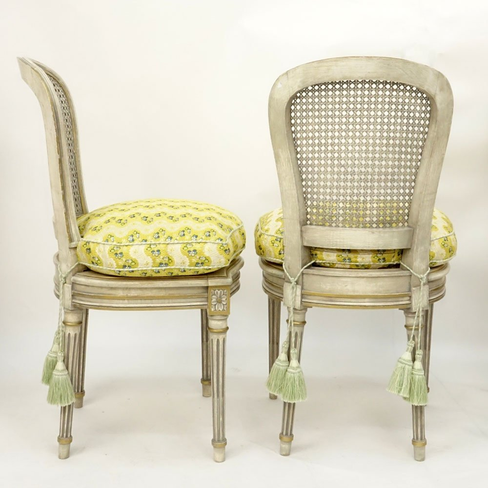Set of Four (4) Italian Louis XVI Style Painted Side - 3